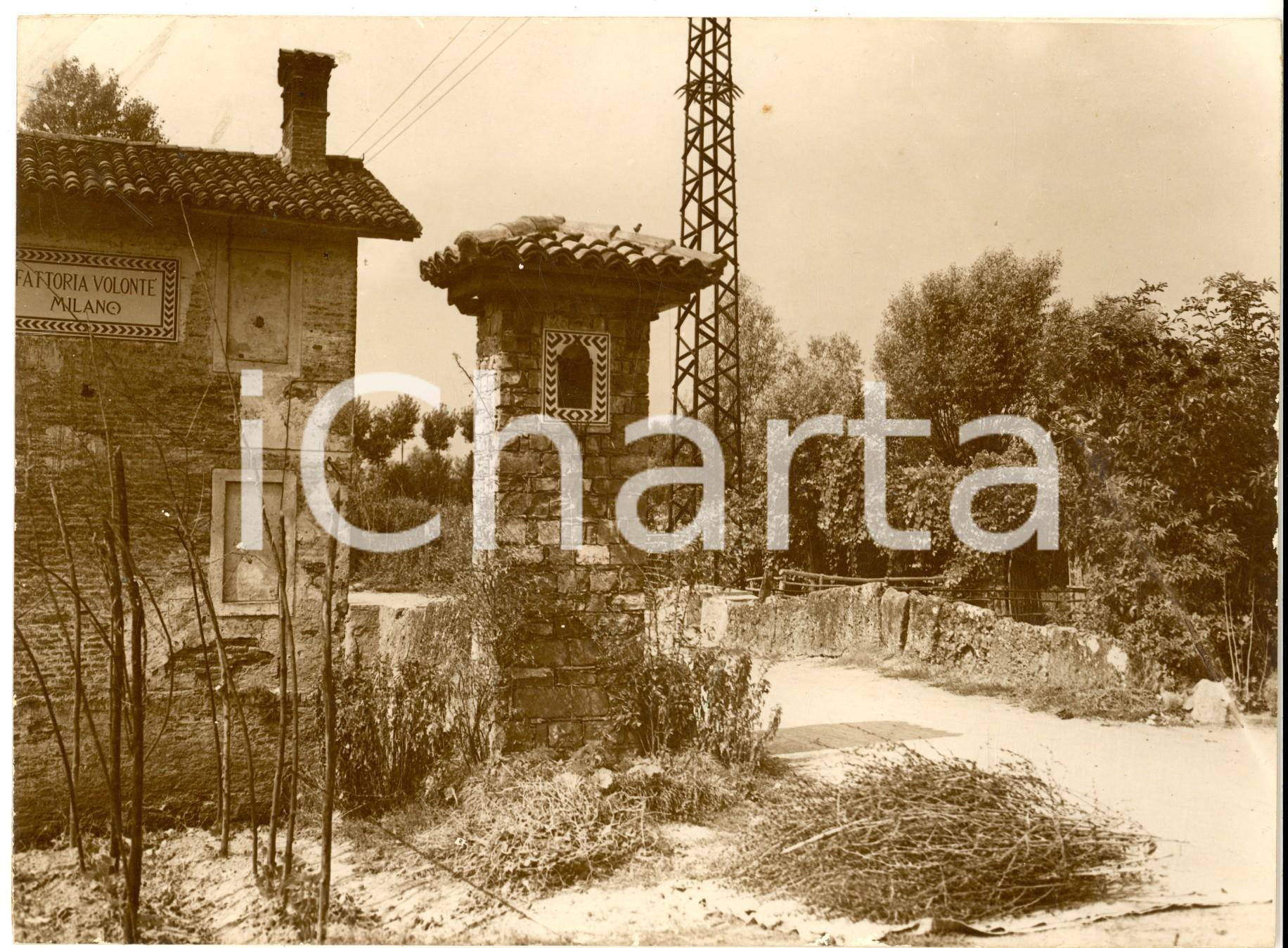 1930 ca BORGOLOMBARDO Scorcio della nuova fattoria VOLONTE' - Foto 24x18 cm