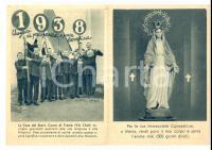 1938 TRENTO Calendarietto Casa Sacro Cuore via Chini