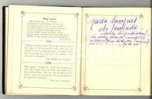 1930 ca TORINO Diario dei compleanni di una nobildonna *AUTOGRAFI Raro
