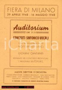 1948 MILANO FIERA Concerto Rina PINOTTI, Maria VINCIGUERRA e Umberto FICHERA
