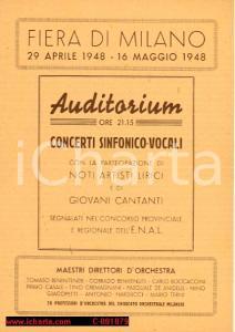 1948 MILANO FIERA AUDITORIUM Concerto Isabella DE PINTO e Giuseppe CAMERANO