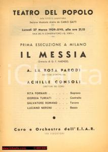 1939 MILANO TEATRO DEL POPOLO Prima esecuzione del
