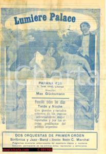 1923 LIBERTAD (ARGENTINA) Programma musicale del LUMIERE PALACE  *Volantino