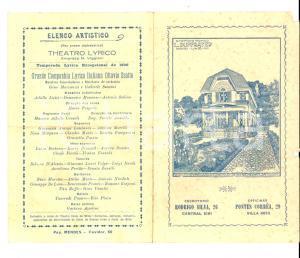 1926 RIO DE JANEIRO Compagnia OTTAVIO SCOTTO Concerto diretto da Gino MARINUZZI