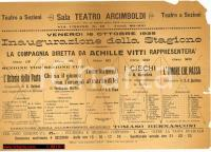 1925 MILANO TEATRO ARCIMBOLDI inaugura compagnia Vitti