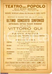 1924 MILANO SOC.UMANITARIA Concerto Guy Anitua