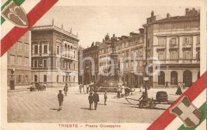 1930 ca TRIESTE Piazza GIUSEPPINA - Pubblicità LA FIDUCIARIA *Cartolina FP NV