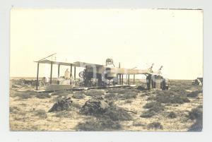 1915 (?) Aviazione - Biplano abbattuto rovesciato