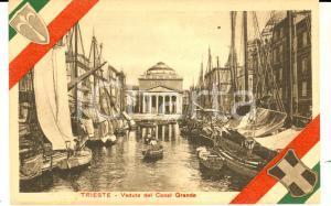 1920 ca ITALIA REDENTA TRIESTE Veduta Canal Grande *Cartolina LA FIDUCIARIA