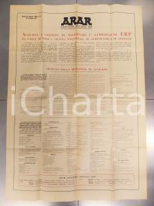 1949 Manifesto ARAR - Gestione residuati bellici