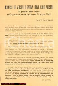 1944 Padova, bombe su Mantegna, Monsignor Agostini