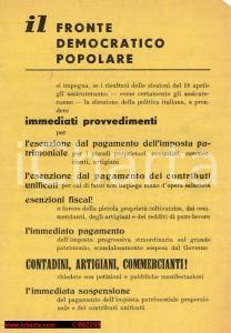 1948 - Fronte Democratico Popolare, propaganda