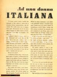 1955 - DC - amministrative: Ad una donna ITALIANA