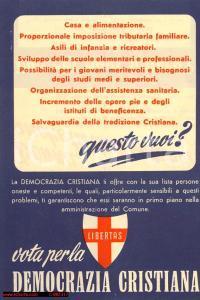 1946 - DC, comunali: DONNA, ANCHE TU DEVI VOTARE!