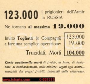 1946 - Armir, propaganda politica contro Togliatti