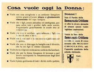1946 - DC: Cosa vuole oggi la donna? Propaganda