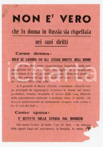 1946 - I diritti della donna in Russia. Propaganda