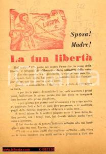1946 - Sposa! Madre! La tua libertà, Propaganda DC