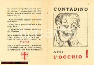 1948 - Propaganda DC - Contadino apri l'occhio!