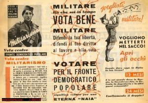 1948 - elezioni - MILITARE VOTA BENE! Naia eterna