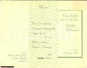 1935 Cav Pittavino Menù addio CIRIE' Corona Grossa