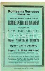 1930 VERRUA PO PV Grande spettacolo varietà Piero MANDI
