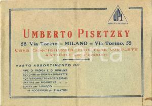 1925 ca MILANO Umberto PISETZKY casa specializzata articoli fumatori *ILLUSTRATO