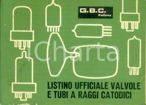 1968 G.B.C. ITALIANA Listino prezzi valvole tubi a raggi catodici