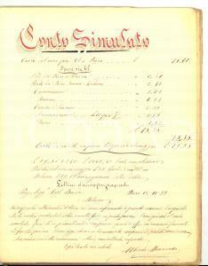 1900 MILANO (?) Quaderno computisteria scelta 46 pp. MANOSCRITTO