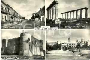 1957 BERNALDA (MT) Vedutine corso UMBERTO I Tavole PALADINE Castello *FG VG