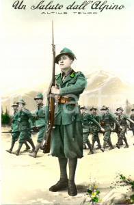 1941 Un saluto dall'Alpino ALTIUS TENDO *Cartolina FP NV