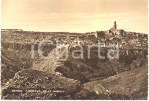 1945 ca MATERA Scorcio panoramico della città dalle MURGE *Cartolina FG NV