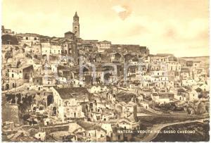 1940 ca MATERA Scorcio dell'interno del SASSO CAVEOSO *Cartolina FG NV