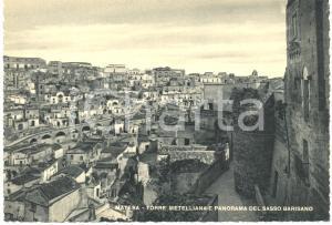 1940 ca MATERA Torre METELLIANA e panorama del SASSO BARISANO *Cartolina FG NV