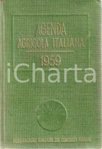 1959 FEDERAZIONE ITALIANA CONSORZI AGRARI Agenda agricola italiana