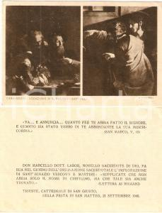 1940 TRIESTE Cattedrale SAN GIUSTO Don Marcello LABOR Ordinazione sacerdotale