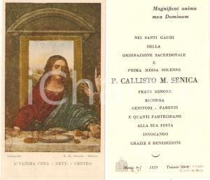 1939 TRIESTE Padre Callisto M. SENICA Ordinazione e Prima Messa *Santino
