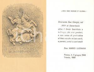 1969 TRIESTE Don Mario LUGNANI Venticinquesimo di sacerdozio *Santino