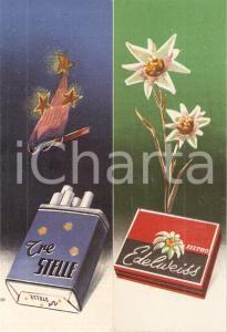 1940 ca Sigarette coloniali EDELWEISS e TRE STELLE *Segnalibro pubblicitario