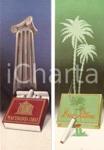 1940 ca Sigarette coloniali DUE PALME e MACEDONIA ORO *Segnalibro pubblicitario