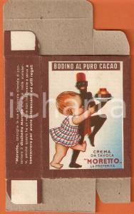 1940 ca MILANO Ditta PEREGO Crema da tavola MORETTO Bodino puro cacao Confezione