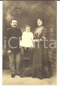 1910 COMO Ufficiale REGIO ESERCITO in posa con moglie e figlia *Foto BIANCHI