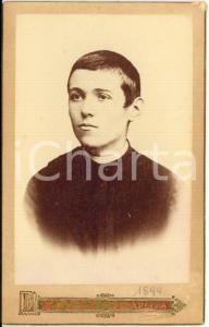 1899 STRADELLA (PV) Ritratto di giovane seminarista *Fotografia L. ROSSI