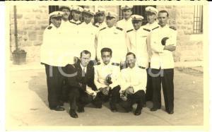 1940 ca TRIESTE Foto di gruppo ufficiali della REGIA MARINA 9 x 14 cm