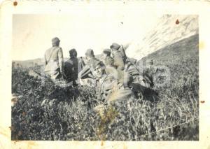 1940 ca WW2 Soldati 4° Reggimento Artiglieria Pesante Campale in appostamento