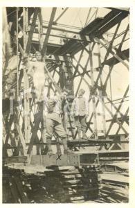 1931 CASTELMAGGIORE (BO) Militari GENIO FERROVIERI posano su un ponte *Foto
