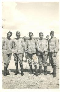 1932 CASTELMAGGIORE (BO) Militari GENIO FERROVIERI posano in divisa *Foto
