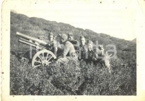 1940 ca WW2 Soldati 4° Reggimento Artiglieria Pesante Campale posizione di tiro