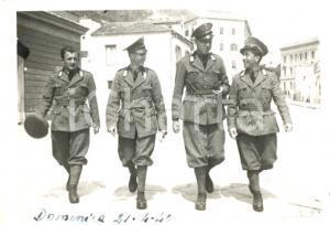 1940 WW2 SALERNO Ufficiali Artiglieria Pesante Campale in libera uscita *Foto