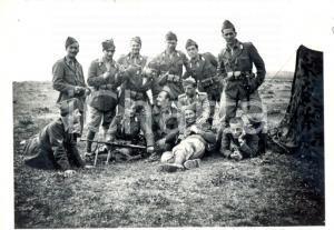 1940 WW2 SALERNO Militari Artiglieria Pesante Campale - Foto di gruppo 8x6